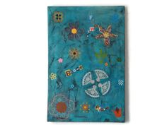 """abstract mixed media flower painting, original acrylic art on stretched canvas """"Blumen"""" 40 x 60 cm x 62 from Kreativprodukte on Etsy. X 23, Acrylic Art, Original Artwork, Mixed Media, My Etsy Shop, Kids Rugs, Stretched Canvas, The Originals, Abstract"""