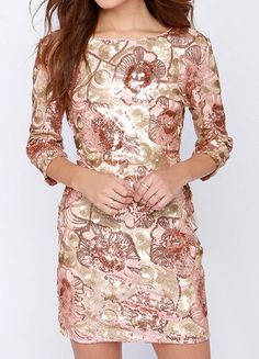 Glam Plan Pink Sequin Dress #dress #sparkle Cheap Dresses, Casual Dresses, Formal Dresses, Pink Sequin Dress, Festa Party, Cool Style, My Style, Bodycon Dress, Fancy Pants