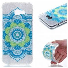 Double-sided IMD Patterned Flash Powder TPU Mobile Case for Samsung Galaxy - Henna Lotus Mobiles, Android, Mobile Cases, Galaxies, Samsung Galaxy, Glitter, Phone Cases, Pattern, A5