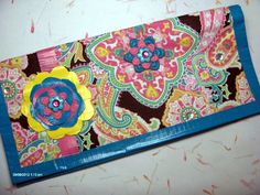 Funky Paisley Clutch Wallet