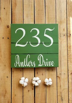 STREET ADDRESS SIGN, Street Name, House Number, Pallet Wood, Address Plaque, Porch Decor, Housewarming, Home Address, Realtor Gift, Rustic Pallet Signs, Pallet Wood, Wood Pallets, Address Signs, Address Plaque, Gray Chalk Paint, Realtor Gifts, Street Names, Street Signs