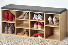 Storage Bench Shoes Storage Rack Hall Furniture Cabinet Organizer Seat Cushion