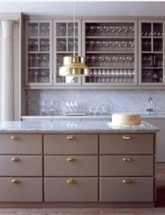 Love Look For Butlers Pantry, Love Idea Of This Color Lacquered Cabinet  Color (my Rust Colored China Would Look Great Behind Glass Cabinets) ,brass  Hardware ...