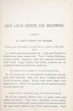 Easy Latin stories for beginners (Projects #14)