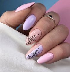 Pastelowe Paznokcie – TOP 17 Cudownych Inspiracji na Modny Manicure Cute Acrylic Nails, Acrylic Nail Designs, Nail Art Designs, Pastel Nails, Stylish Nails, Trendy Nails, Classy Nails, Nail Manicure, Gel Nails