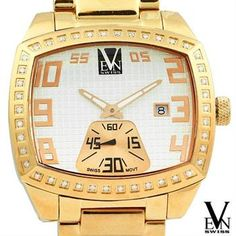 VEN SWISS Brand New Stainless Steel Diamond  Swiss Watch