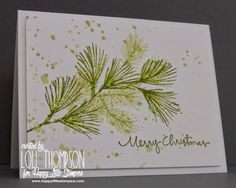 Stamping with Loll: Pine Branches