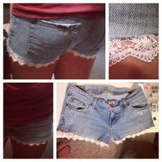 DIY lace shorts :)