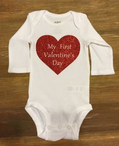 First Valentine's Day Onesie by SweetLittleGoose on Etsy