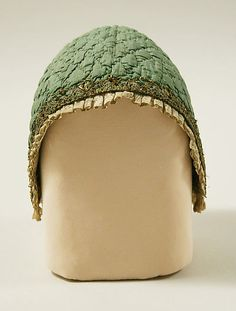 Cap  Date:     18th century Culture:     probably French Medium:     silk, cotton