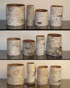 birch bark vase sleeves