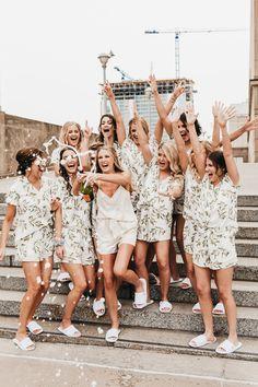Bridesmaid Pyjamas, Bridesmaid Luncheon, Bridesmaid Dresses, Bride Pictures, Wedding Pictures, Dream Wedding, Wedding Day, Boho Wedding