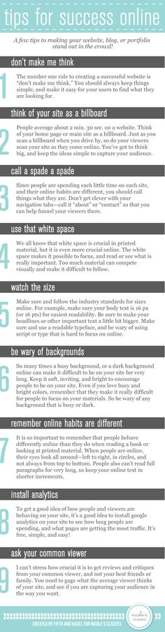 Great tips on dos and don'ts for your website design to establish better online presence.