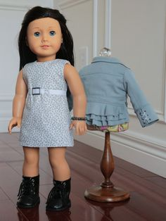 American Girl Outfit Clothing for 18 Inch Dolls by NoodleClothing. Made with the LJC Boomerit Falls Jacket pattern, found here http://www.pixiefaire.com/products/boomerit-jacket-pattern-18-dolls. #pixiefaire #libertyjane #boomeritfallsjacket