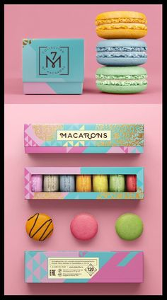 #foodpackaging #sweetpackaging #sweetboxpackaging #packagingdesign Food Packaging Design, Box Packaging, Sweet Box, Branding Agency, Service Design, Macarons, Print Design, Creative, Prints