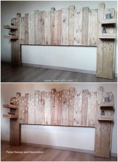 Implausible DIY creations from wooden pallets - pallet bed headboard - . - Implausible DIY creations from wooden pallets – pallet bed headboard – - Diy Pallet Bed, Diy Pallet Furniture, Diy Furniture Projects, Diy Pallet Projects, Pallet Ideas, Outdoor Pallet, Diy Crafts With Pallets, Diy Bedroom Projects, Pallet Diy Decor