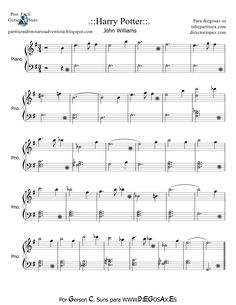 Harry+Potter+Theme+Piano | tubescore: Harry Potter by John Williams Easy sheet music for piano ...