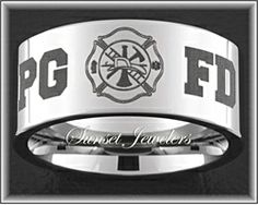 firefighter maltese cross wedding ring