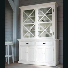 Alacena de madera blanca Newport