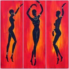 Resultado de imagen para negras africanas en madera con disenos de frutas en la cabeza African Abstract Art, African Art Paintings, Dance Paintings, African Drawings, Haitian Art, Indian Folk Art, Africa Art, Black Women Art, African American Art