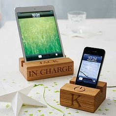 Personalised Stand For iPhone Or iPad for your dad! - technology accessories
