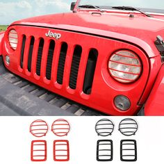 New Style Black Metal Head Light Covers Tail Light Lamp Hoods Exterior Parts For Jeep Wrangler Cheap Jeep Wrangler, Jeep Wrangler Lights, Cheap Jeeps, Jeep Wrangler Renegade, Head Light, Tail Light, Jeep Wrangler Accessories, Light Covers, Metalhead