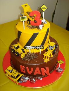 Evan's construction cake. | Flickr - Photo Sharing!