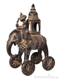 Antique Indian Toy Elephant Stock Photography - Image: 4193952