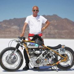 The SaltCracker, a 1941 600cc INDIAN 741. Supercharged, running on methanol. Bonneville Land Speed Record Holder
