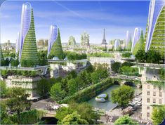 Addressing Paris' housing and density issues, French firm Vincent Callebaut Architectures has developed a proposal for multiple high-rise buildings with positive energy output (BEPOS). Comprised of eight multi-use structures inhabiting various locations within Paris, the plan strives to address major sustainability problems affecting each district, while providing key functions for the city.