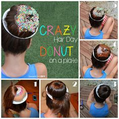 Crazy Hair Day Donut on a Plate