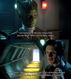 """I loved this scene!--Madame Vastra: """"I am trying to be delicate. I know how you can blush.""""--The Doctor got so flustered! Doctor Who Actors, All Doctor Who, Eleventh Doctor, Torchwood, Time Lords, Awkward Moments, David Tennant, Dr Who, Superwholock"""