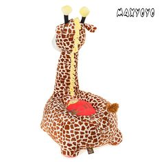 MAXYOYO Kids Plush Riding Toys Bean Bag Chair Seat for ChildrenCartoon Cute Animal Plush Sofa SeatSoft Tatami ChairsBirthday Gifts for Boys and Girls brown giraffe * To view further for this item, visit the image link. (This is an affiliate link) Birthday Gifts For Boys, Sofa Seats, Bag Chairs, Cartoon Kids, Kids Furniture, Bean Bag Chair, Giraffe, Boy Or Girl, Cute Animals