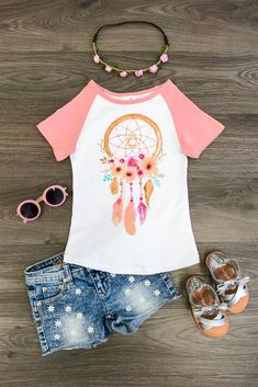Blush Pink Dream Catcher T-Shirt - Sparkle In Pink