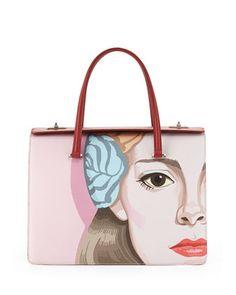 Saffiano Print Satchel Bag, Off White Red (Alabastro Fuoco). Purple BagsPrada  ... fcb14d95e47