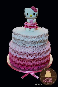 Hello Kitty Cake by Luscious Fascination by Arjoy  (8/22/2012)  View cake details here: http://cakesdecor.com/cakes/26018