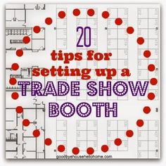 20 TIPS for setting up a trade show booth. How to.