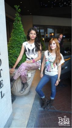 Me and Z at our Hotel Soho in London #bellathorne #zendaya