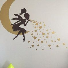 A J added a photo of their purchase Wall Stickers, Wall Decals, Wall Art, Wall Painting Decor, Girl Bedroom Walls, Blowing Kisses, Wall Drawing, Paint Designs, Decoration