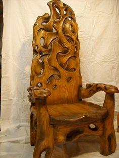 """Кресло """"Тяжелая вода""""   Резьба по дереву, кости и камню"""