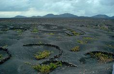 Tierra de Fuego desde la Geria en tarde de lluvia