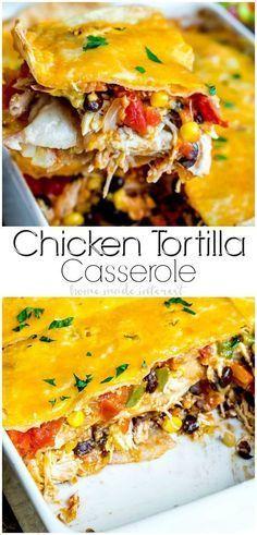 Corn Tortilla Casserole, Corn Tortilla Recipes, Recipes With Flour Tortillas, Mexican Chicken Casserole, Corn Recipes, Casserole Dishes, Casserole Recipes, Mexican Food Recipes, Taco Casserole With Tortillas