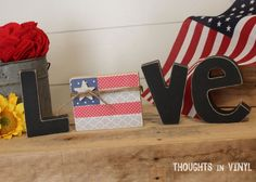 Interchangeable Love Letters {Flag}