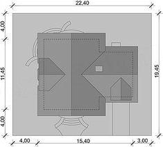 Usytuowanie projektu Gracjan na działce House Plans, House Design, How To Plan, House Styles, Modern, Home Decor, Fashion, Shapes, Houses