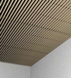 Wood slat ceiling linear lighting google search - Falso techo madera ...