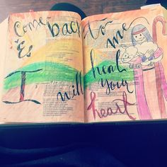 One thing is for sure. God is the same yesterday today and forevermore! No matter how big you think you have sinned or how far you've gone God will always care for you. It is safer to run towards Him than to run away from Him. He has love mercy grace and Salvation.  Where is your heart today? God Bless!  #biblejournalingcommunity #journalingbible #BibleJournaling #illustratedfaith #Jeremiah3 #SharpArrowGirl #DarlingsBible #flashbackfriday #GodsQuiver #GodWillCarryYou #Sheep #GoodGoodFather…