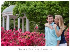 Erin & Jake's #UNC #ChapelHill #engagement session. Photography by Silver Feather Studios, North Carolina wedding video and photography.