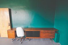 Modular oversized mid century desk