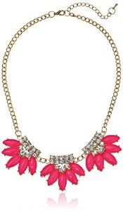 Loving this hot pink crystal statement necklace!! #krissylovesbling