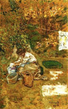 The Washing - 1900, Pierre Bonnard